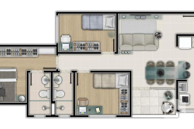 Apartamento à venda com 3 dormitórios em Salgado filho, Belo horizonte cod:250264 - Foto 5