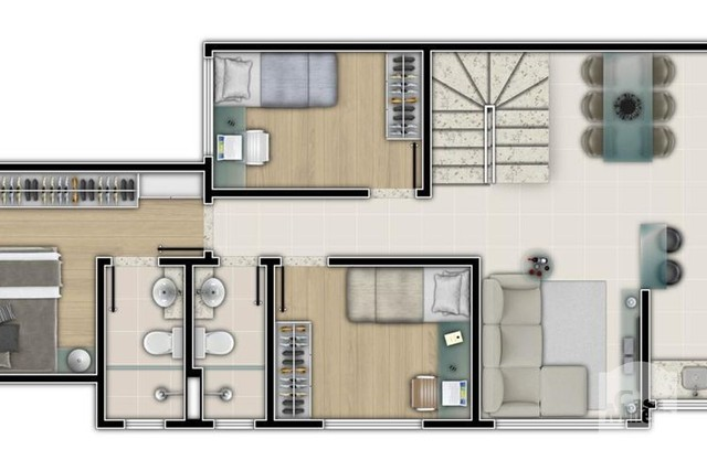 Apartamento à venda com 3 dormitórios em Salgado filho, Belo horizonte cod:250264 - Foto 4