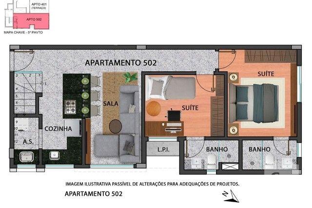 Apartamento à venda com 2 dormitórios em Anchieta, Belo horizonte cod:280097 - Foto 2