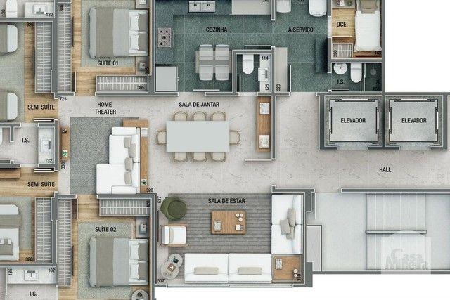 Apartamento à venda com 4 dormitórios em Sion, Belo horizonte cod:264980 - Foto 7