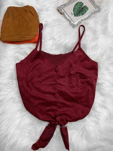 Blusas tecido sued  - Foto 2