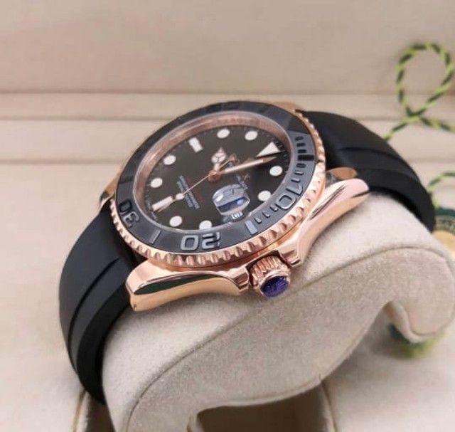 Relógio masculino Modelo Rolex Yacht-Master Premium AAA - Foto 3