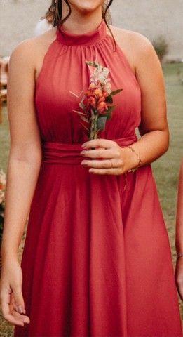 Vestido de festa 42 cor: Terracota - Foto 3