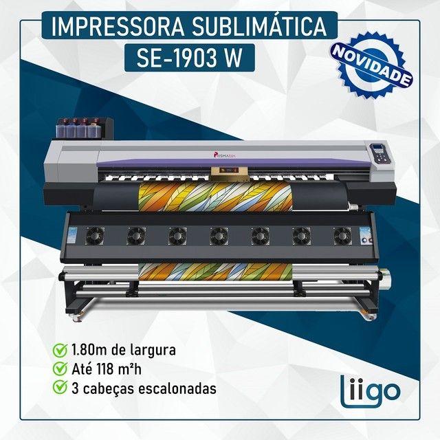 Impressora PrismaTex com 3 cabeças (nova)