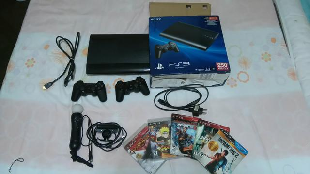 Vendo ps3 com kit movie