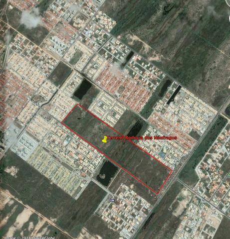 Área (terreno) comercial na Av. Melício Machado med. 108 m x 822,80 m - Foto 2