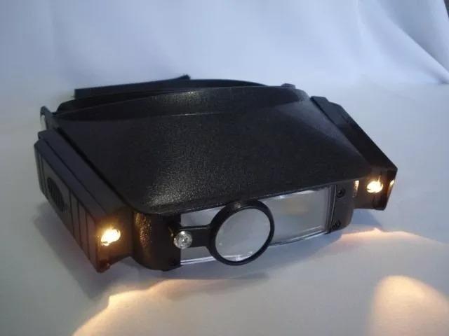c1ee7469c1456 Lupa Cabeça Óculos Joalheiro 3 Lentes C Luz Profissional - Peças e ...