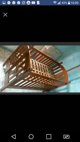 Urgente Berço que vira cama madeira maciça top baxei o preço - Foto 2