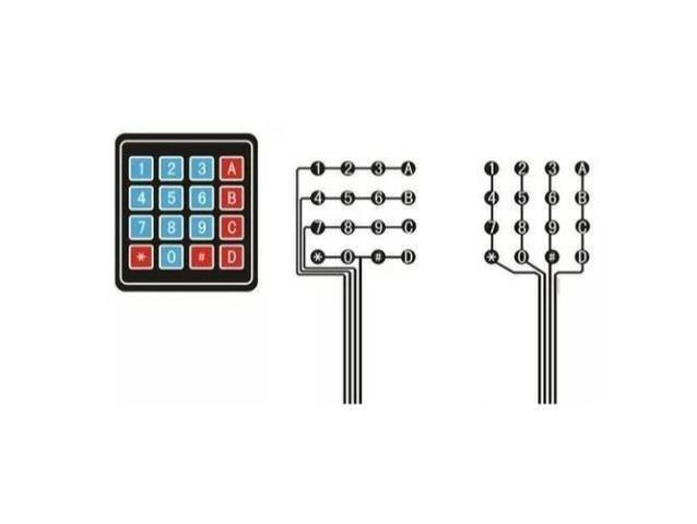 COD-AM39 Teclado Membrana Matricial 4x4 16 Teclas Keypad Arduino Pic Robotica - Foto 2