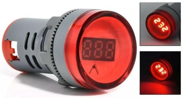 COD-CP124 Voltimetro Olho De Boi Sinaleiro Led 60-500 Vac Vermelho Arduino Robotica
