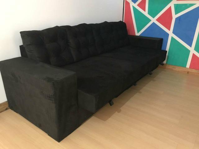(SUPER PROMOÇÃO) - Sofa C/04 Assentos Retrátil NOVO - Foto 2