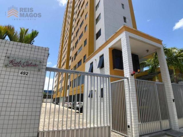 Apartamento com 2 dormitórios para alugar, 57 m² por R$ 1.600/mês - Tirol - Natal/RN - Foto 8