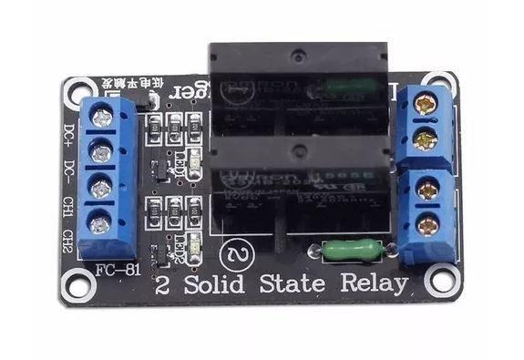 COD-AM26 Módulo Rele De Estado Sólido 2 Canais 5v Ssr Arduino - Automação - Robotica - Foto 3