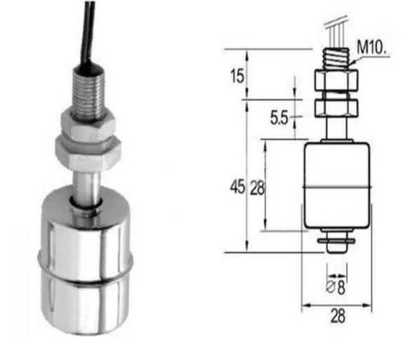 COD-AM257 Sensor De Nível Líquidos Boia Caixa Tanque Em Inox Arduino Automação Robotica - Foto 2