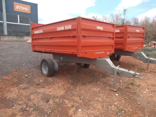 Carreta agrícola basculante 5 TON metálica sem pneus