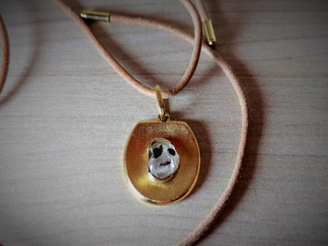 Pedra de coleção, pendente de ouro - Foto 4