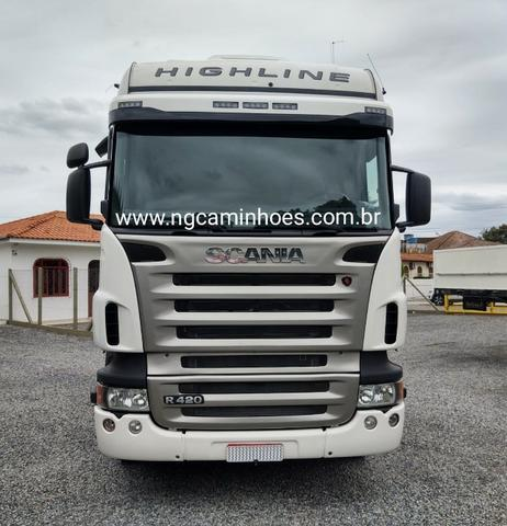 Scania R420 HighLine 2008 6x2 - Ar Condicionado - Foto 2