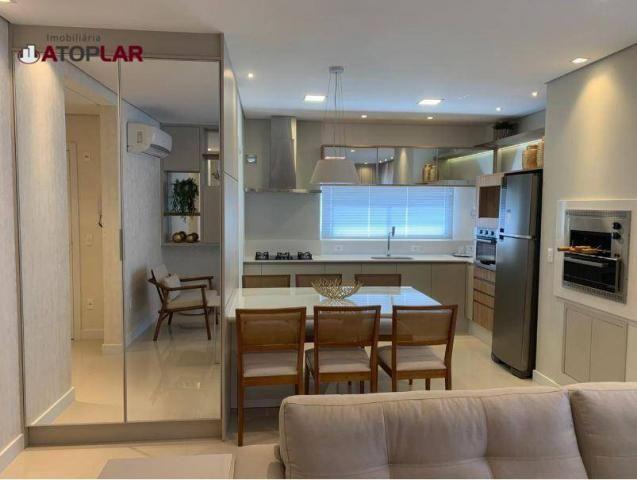 Apartamento garden com 3 dormitórios à venda, 208 m² por r$ 1.230.000,00 - pioneiros - bal - Foto 6