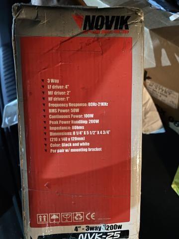 Caixa Som Ambiente 4 Polegadas. ( NOVO NA CAIXA) - ( aceito PS4 com troco ) - Foto 3