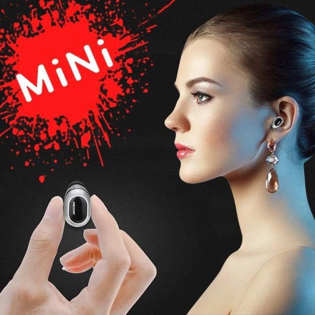 Mini Fone De Ouvido Bluetooth Sem Fio 4 Horas Musica Uber 99pop - Loja Natan Abreu - Foto 5