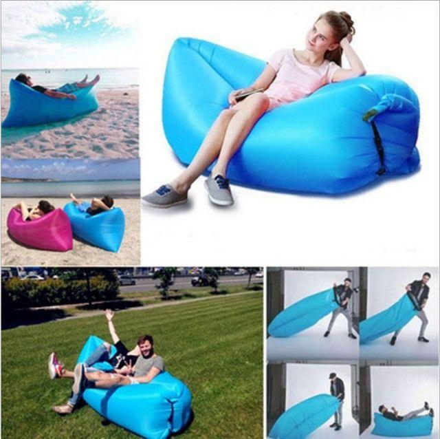 Inflável para camping praia área aberta para sentar ou deitar - Foto 4