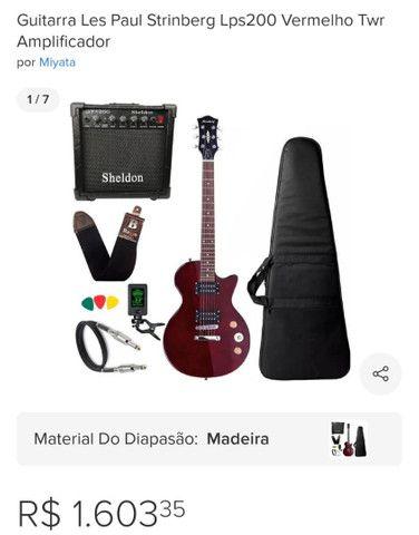 Guitarra Les Paul Strinberg Lps200 Vermelho Twr Amplificador