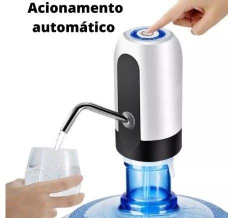 Bomba Elétrica De Galão Universal Com Carregamento USB Para Galão/Garrafão De Água - Foto 2