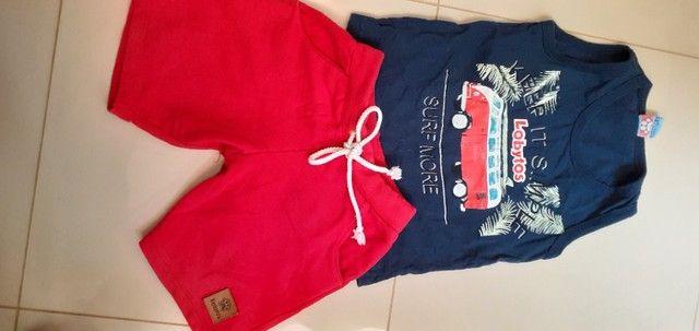 Lote de roupas e calçados menino 2 anos  - Foto 3