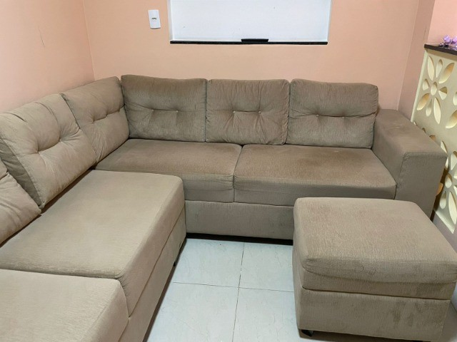 """Sofá em """"L"""" Seminovo, 1 ano de uso. R$ 1.500,00 - Foto 4"""