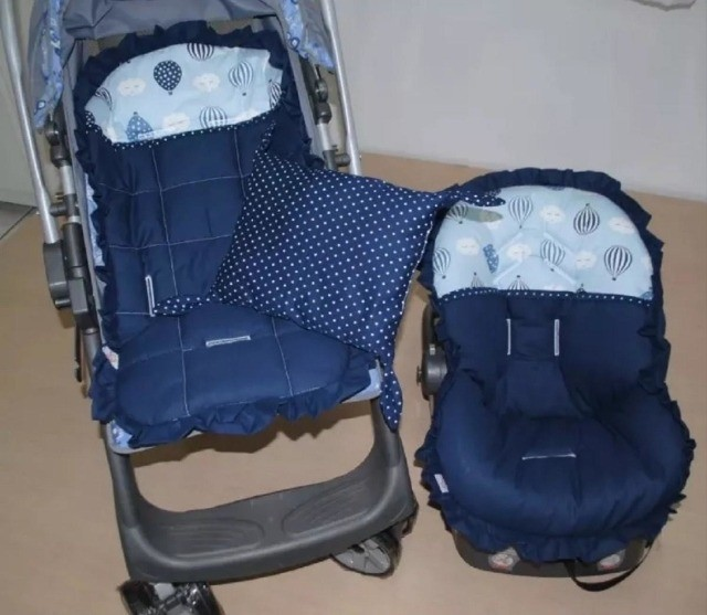 Capa carrinho + bebe conforto + tapete - Foto 4