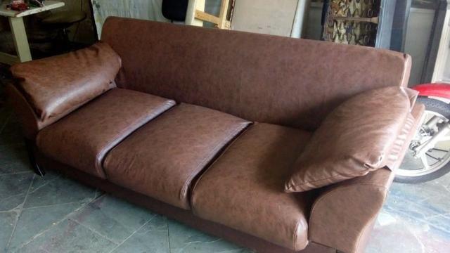 sofá de couro novo móveis cidade verde betim 561746720 olx