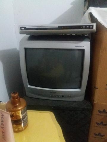 Tv 14 polegadas e dvd