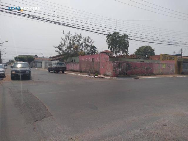 Terreno de esquina comercial à venda, 280 m² por R$ 500.000 - CPA I - Cuiabá/MT