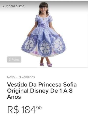 Vestido Original Disney Princesinha Sofia