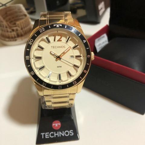 Relógio Technos Lançamento, 5 atm, Prova D'água, Garantia, Aço Inoxidável!