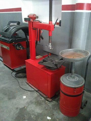 Balanceadora motorizada/ Desmontadora pneumática - Foto 4