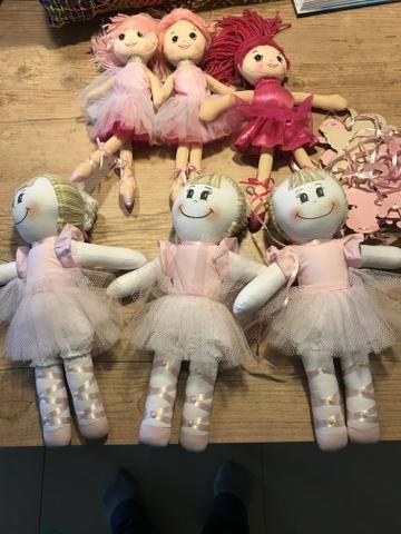 Boneca bailarina festa infantil rosa - Foto 2