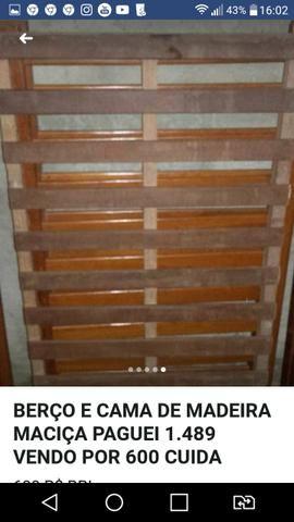 Urgente Berço que vira cama madeira maciça top baxei o preço - Foto 4