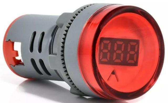 COD-CP124 Voltimetro Olho De Boi Sinaleiro Led 60-500 Vac Vermelho Arduino Robotica - Foto 3
