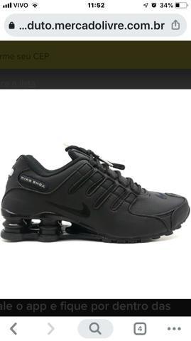 Nike Shox preto 39