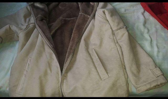 Jaqueta de camurça forrada  com  pele - Foto 3