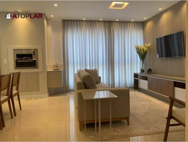 Apartamento garden com 3 dormitórios à venda, 208 m² por r$ 1.230.000,00 - pioneiros - bal - Foto 2