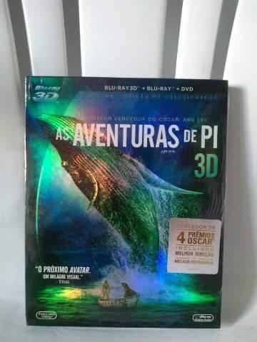 As Aventuras de Pi - 3 discos (Dvd, Blu Ray 2D e 3D)