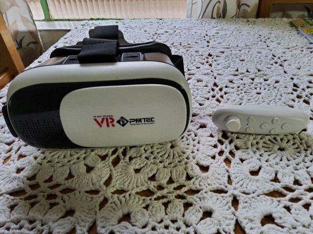 Óculos VR Box Pmtec + joystick bluetooth