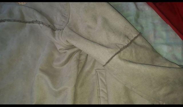 Jaqueta de camurça forrada  com  pele - Foto 4