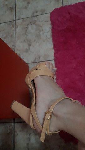 Sandália mariotta verniz nude