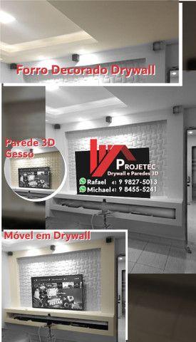 Drywall e Paredes 3D - Foto 3