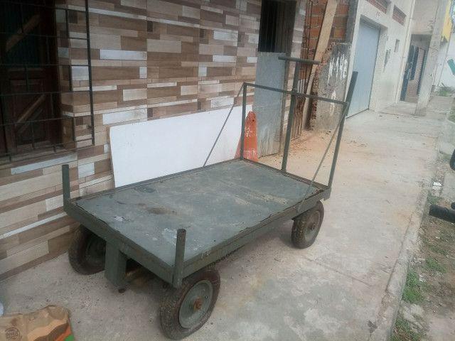 Carrinho 4 rodas para vendas  - Foto 2