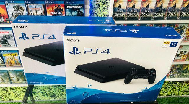 PS4 Slim 500gb. Venha conhecer a maior loja de games do ABC!  - Foto 3