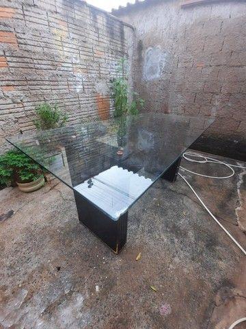 Mesa Tampo de vidro grande R$250 (1,80x0,90) - Foto 3